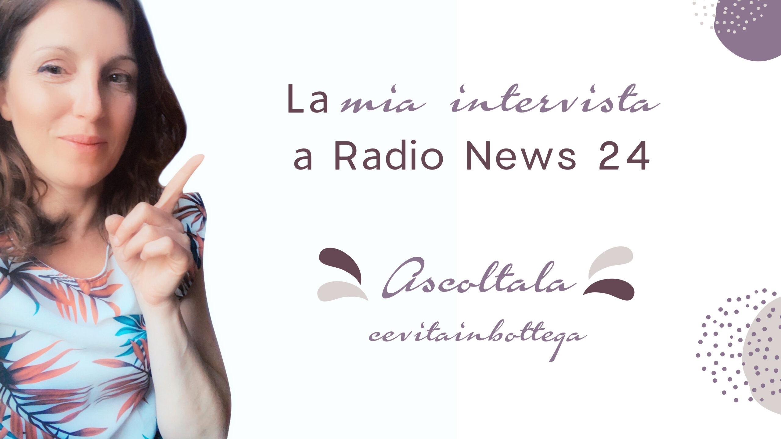 Giò bottega grafica ai microfoni di Radio News 24